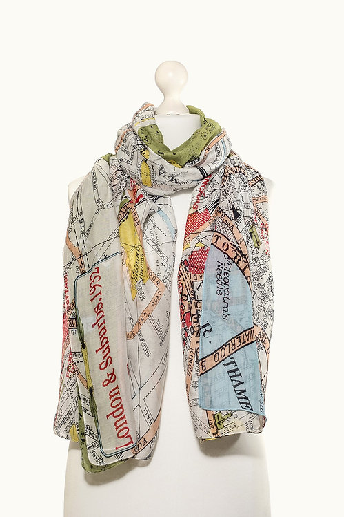 One Hundred StarsLondon Map Scarf