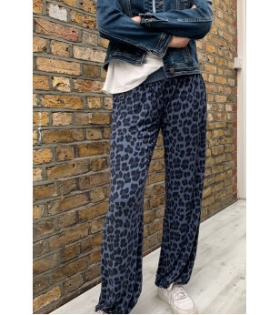 N and Willow Abstract Slouchies in Denim Blue