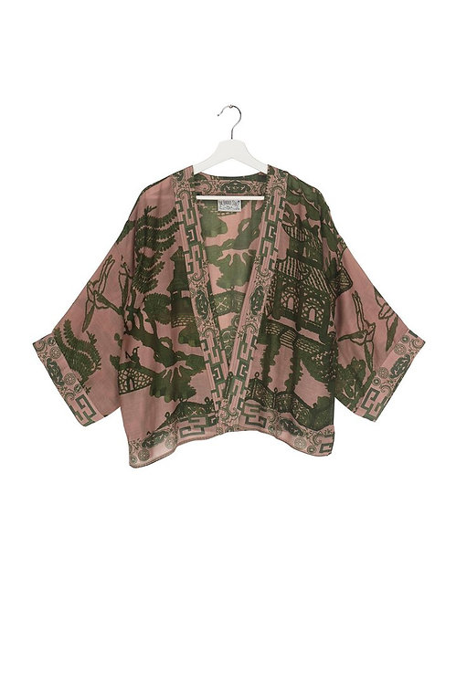 One Hundred Stars Passion Flower kimono in Stone New in Boutique RRP £45