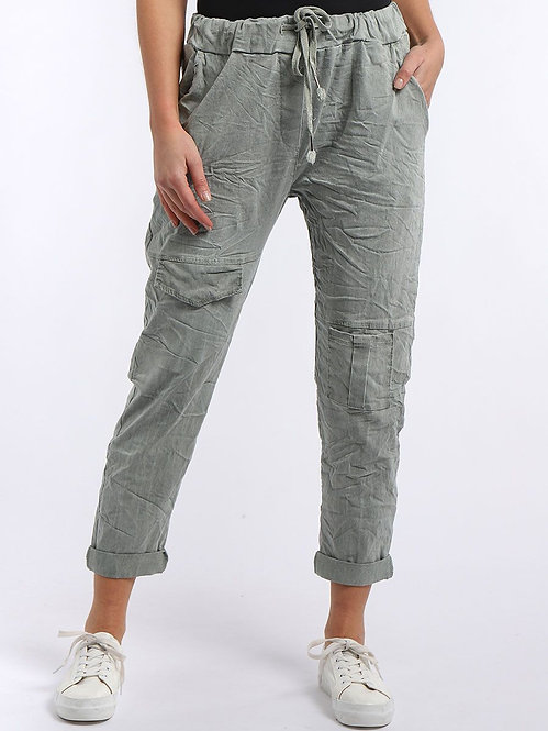 Plain magic Trousers with Combo Pockets