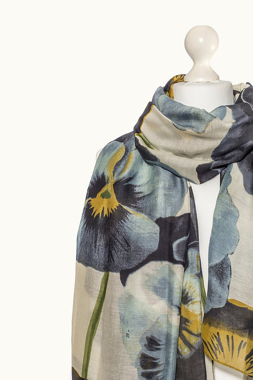 One Hundred Stars Pansy scarf