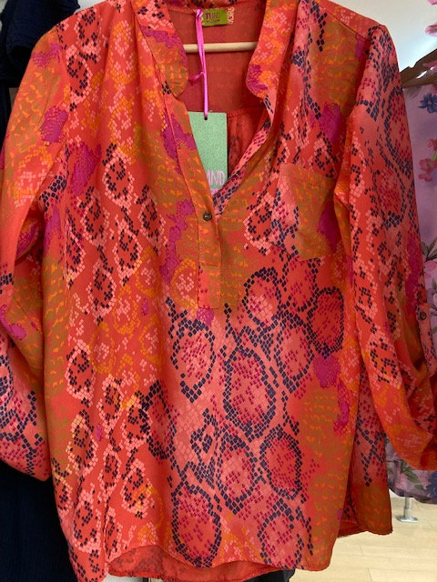 N and Willow Easy Blouse in Orange