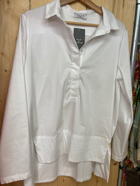 Deck White Blouse size 1