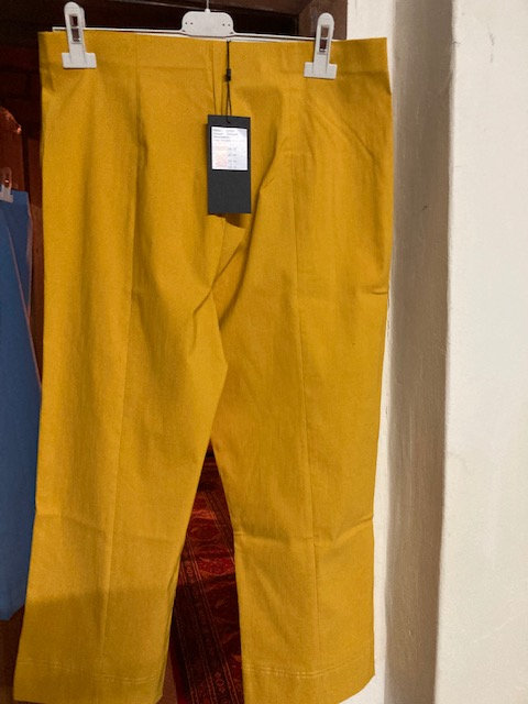 Pomodoro Crop Trousers in Sunflower