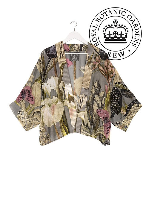One Hundred Stars KEW Iris Grey Kimono