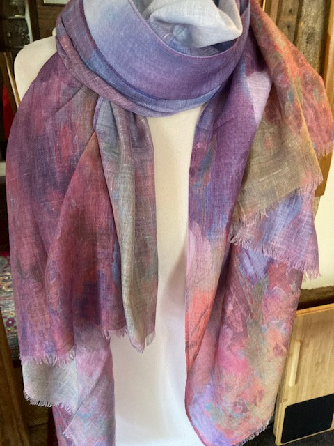 A beautiful Long Scarf in Subtle Colours