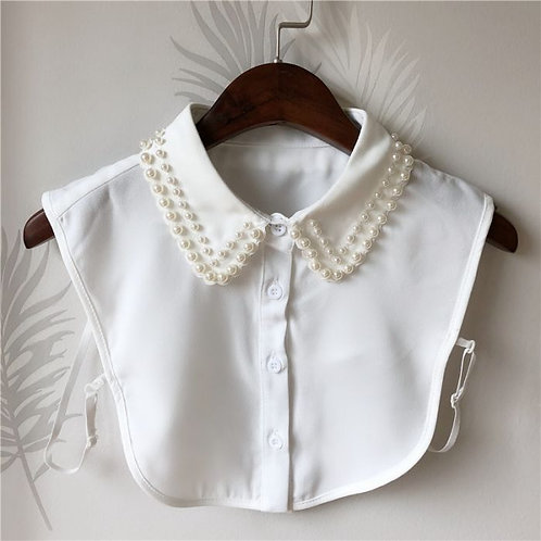 Collar  White  with Pearls effect