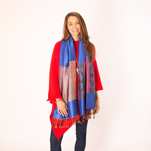 Tilley and Grace Scarf in Royal Blue