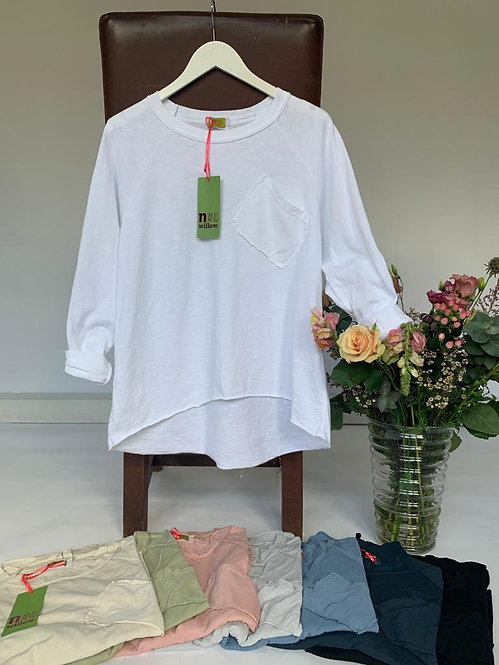 N and Willow Long Sleeve pocket Tee