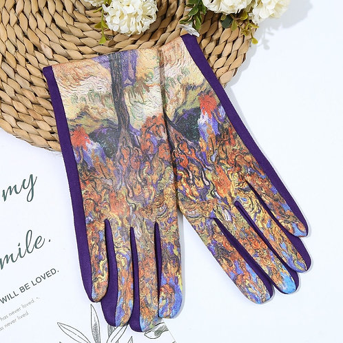 Beautiful Gloves with Mulberry Bush Picture