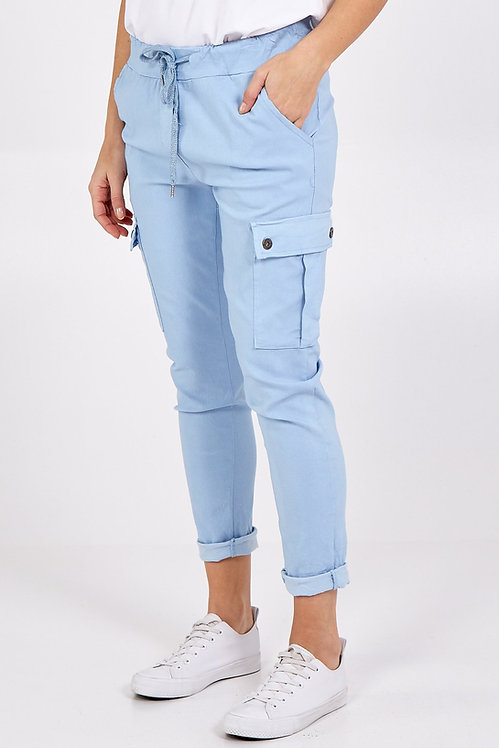 Super Stretch Combo Trousers in Sky Blue