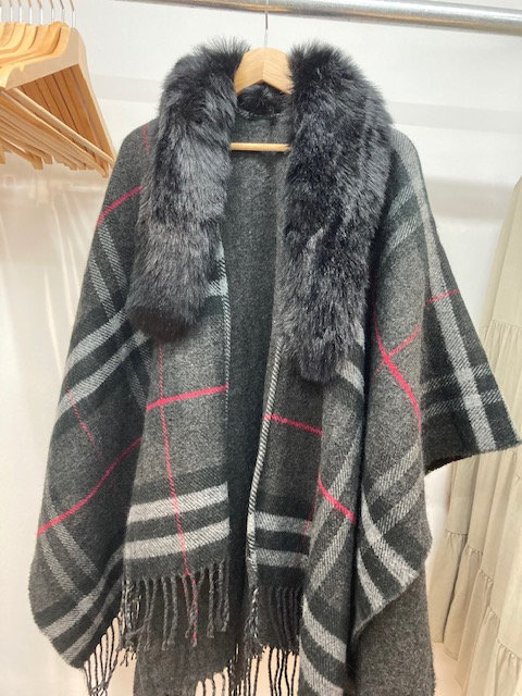 A Lovely Wrap with Faux Fur trims