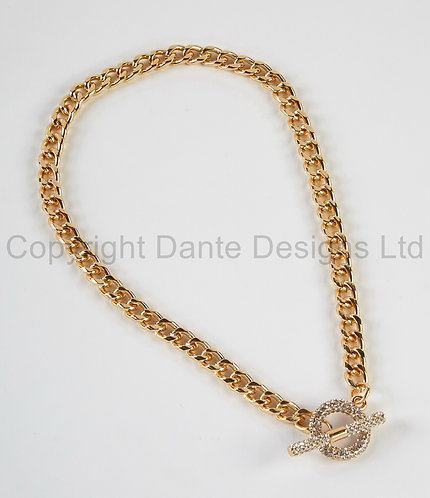 Dante Necklace with crystal fastening