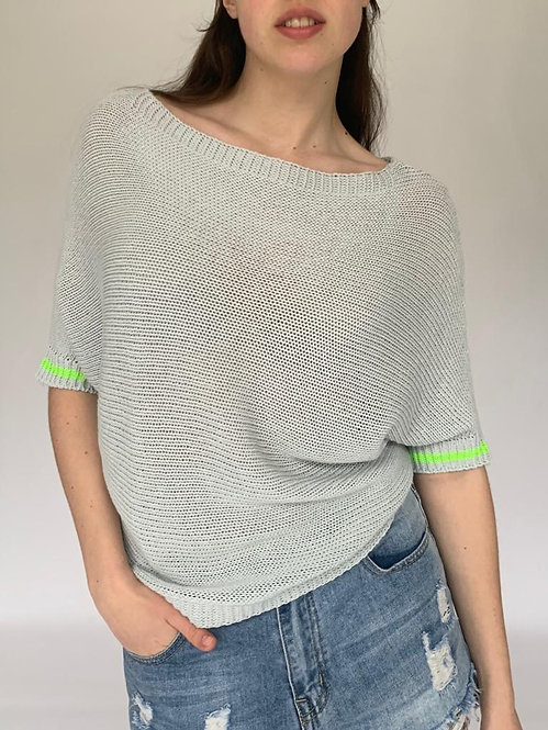 Candy Pop Short Sleeve Cotton Mix Sweater