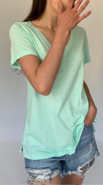 Cotton v Neck Tee Shirt