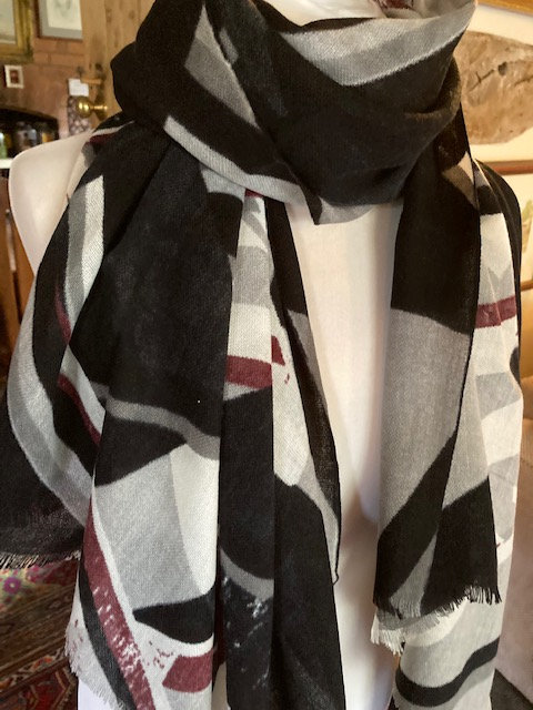 A Beautiful Long scarf with a lovely abstract print.