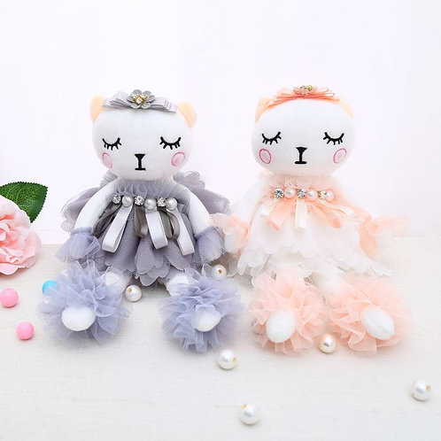 Key ring and sucker Ballerina Doll in Grey or Pink