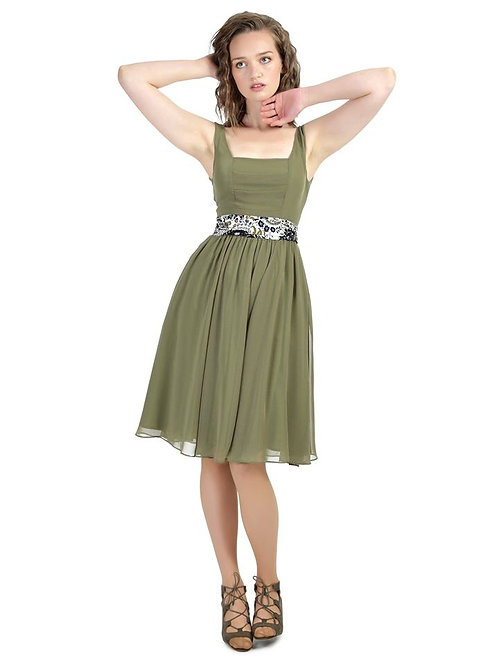 Collective green chiffon dress size 10