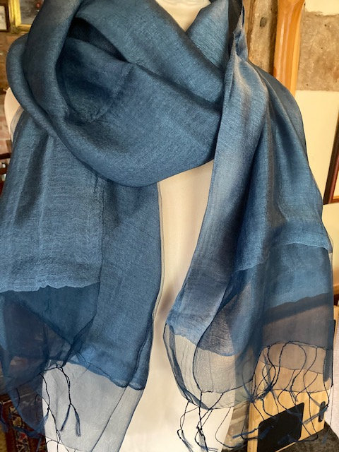 A Double Layer Silk Scarf