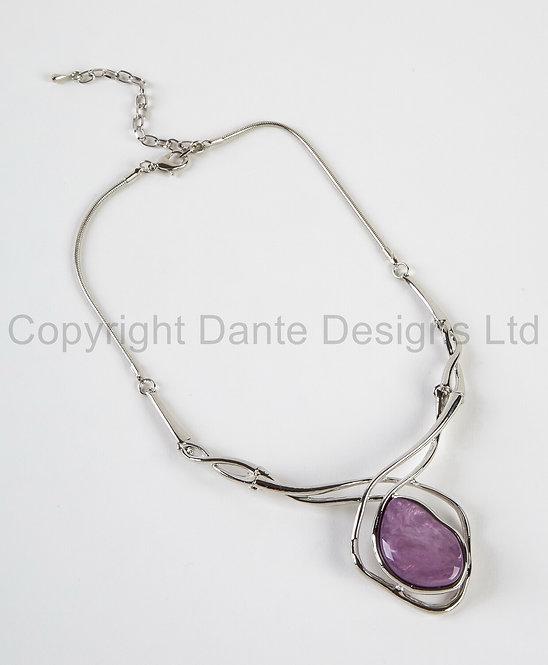 Dante Necklace with purple stone