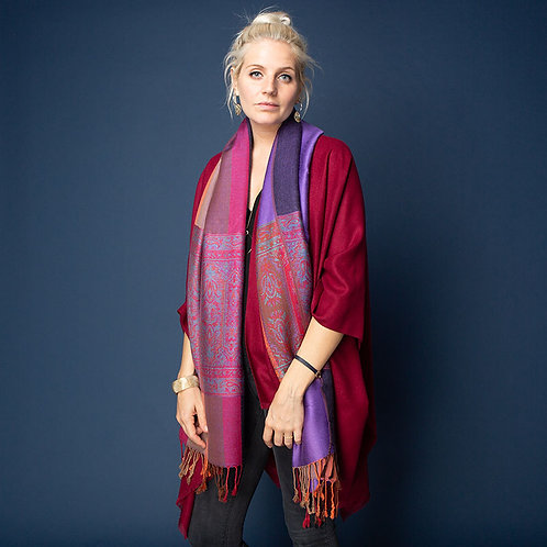 Beautiful Saville Scarf in Purple
