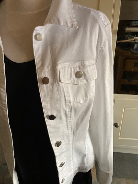 Pomodoro White Cotton Jacket