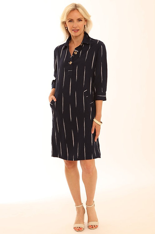 Pomodoro Brushstroke Tunic Dress