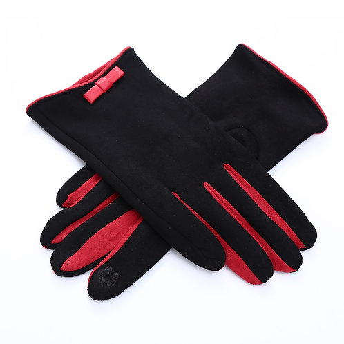 Black and red gloves one size