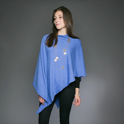 Tilley and Grace poncho in Cornflower
