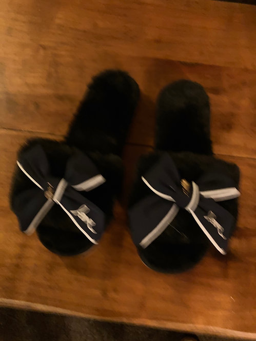 A Beautiful Black Pair of Slippers