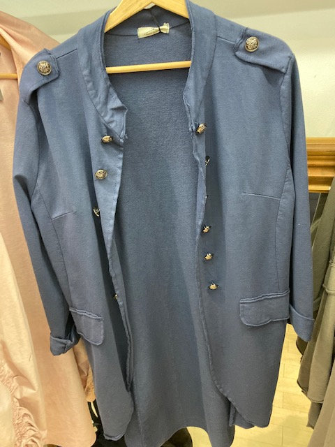 Military Jacket Long length with buttons .