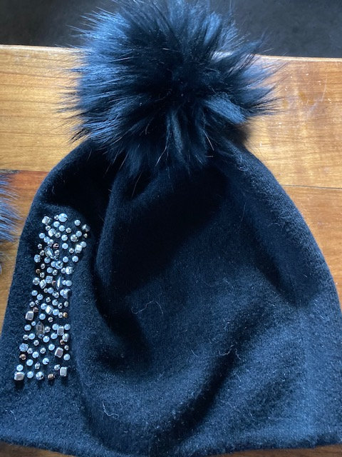 A Lovely warm Black Crystal hat