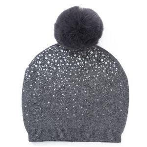 A beautiful wool hat with small Diamante crystals