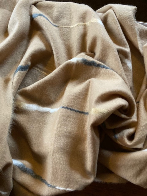 A Beautiful Warm Large Scarf in Camel