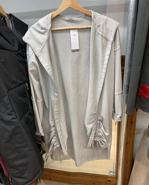 Deck Silver Grey Jacket, with side features and hood