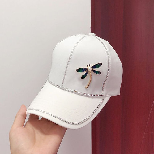 Dragonfly Cap in White