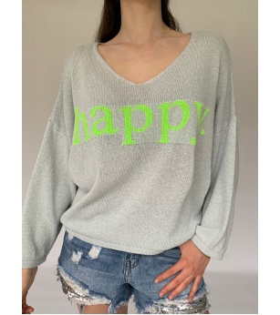 N and Willow Happy Knit Light Grey