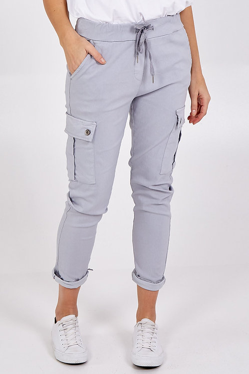 Magic Cargo Trousers in light Grey