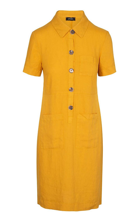Pomodoro Safari Short Dress in Sunflower
