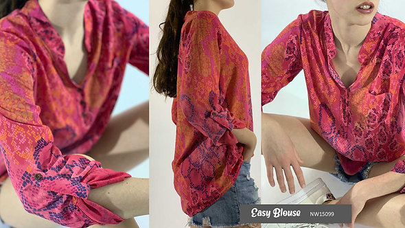 N and Willow easy Blouse in Pink