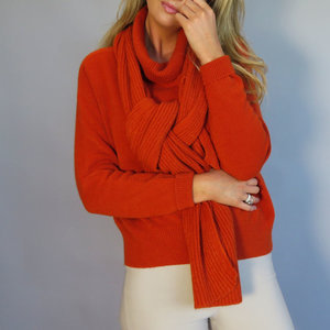 D.E.C.K. by decollate Red Jumper with scarf