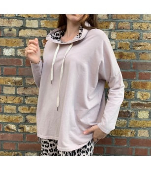 N and WillowAbstract Hoodie in Pink