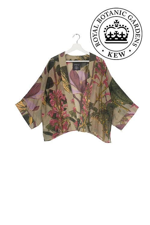 One Hundred Stars Kew Magnolia Kimono in Stone