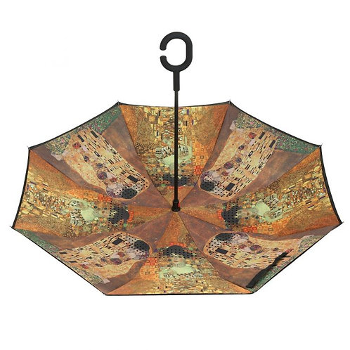Beautiful inside Out Umbrella with The Kiss Design.