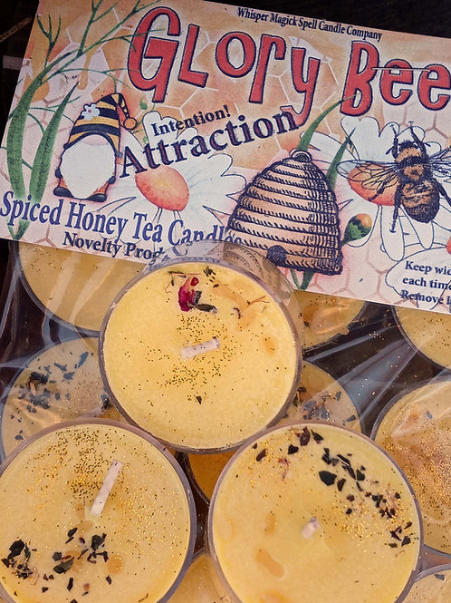 GloryBee Spiced Honey Attraction Tea Candles