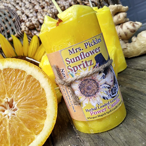 Sunflower Spritz Success Pillar Candle