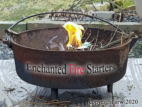 How to Make Enchanted Fire Starters for Outdoor Cauldron or Bonfire by Silver RavenWolf #firestarter