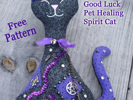 Spirit Cat Pattern for Protection, Success, or Healing