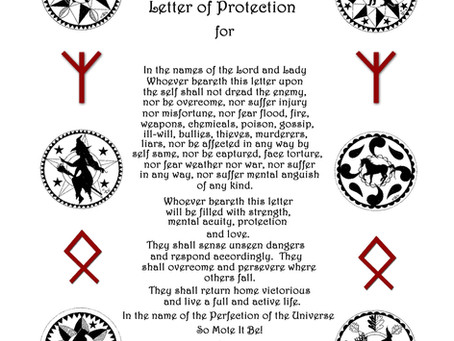 Silver RavenWolf on Aries Moon and Himmelsbrief Protection Letter