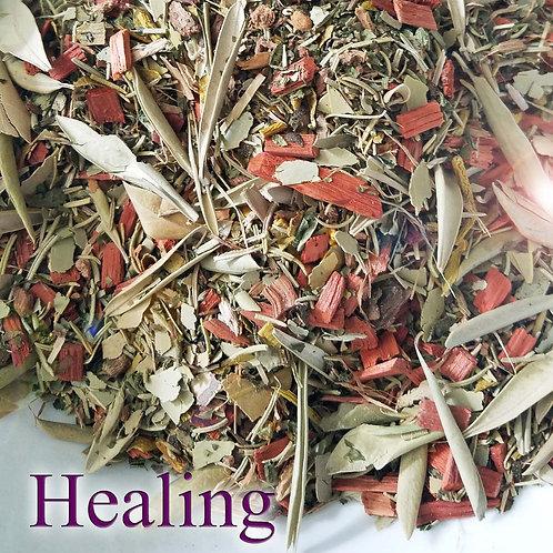 Healing Herbal Blend with Quartz Crystal